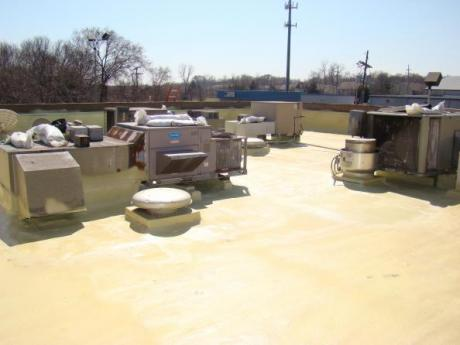 Burger King spray foam roof