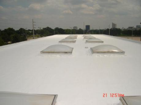 Wichita Hess Station spray foam roof