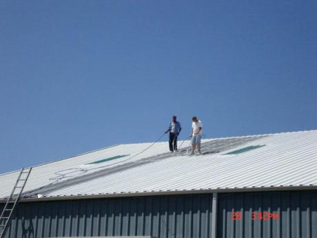 St. John's spray foam roofing project