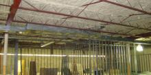 Commercial spray foam project